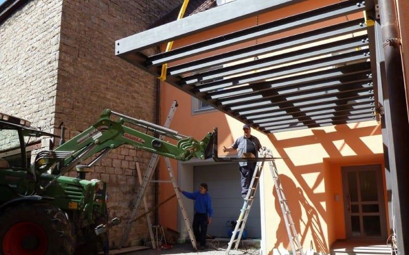 1. Vodächer metallbau würzburg Vordach aus Stahl und Edelstahl mit Glas