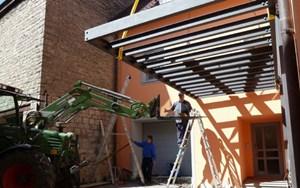 vordächer metallbau vordächer hauseingang mit glas und edelstahl